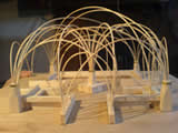 A model of a new otdoor structure commission being designed and built by Forest Woodcraft